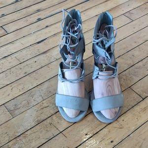 Torrid cutouts lace up block heel choose